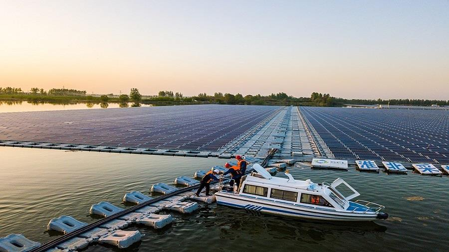 Floating Solar Power Station In Huaibei