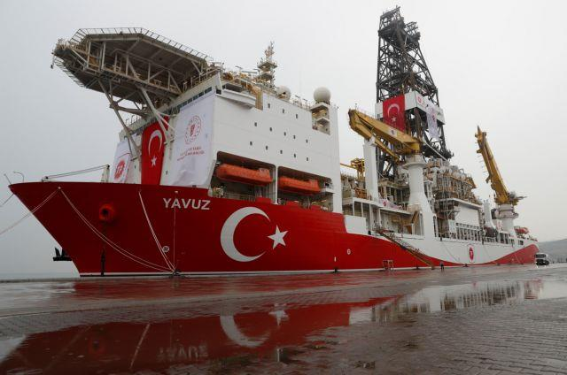 Turkish drilling vessel Yavuz is pictured at Dilovasi port in Kocaeli
